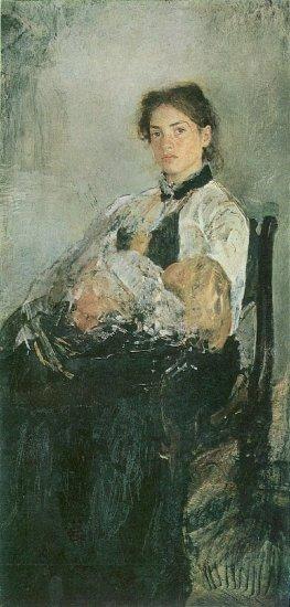 Надя Симонович. Портрет Серова.