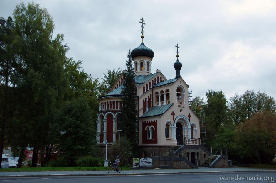 Храм св.Владимира в г.Марианские Лазни