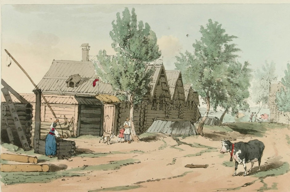 Русская деревня в XVIII веке