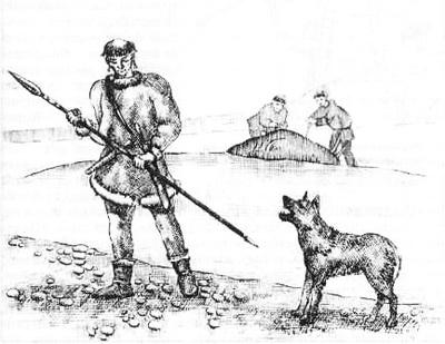 вооруженный чукотский воин