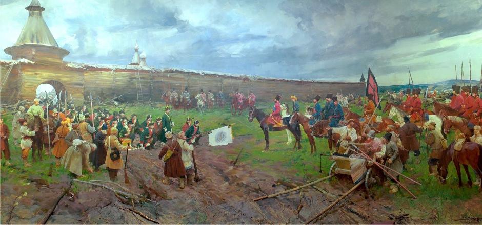 Прибытие Е.Пугачёва в город