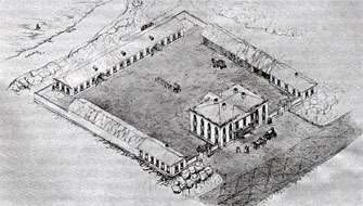 Путевой дворец в Городне - план