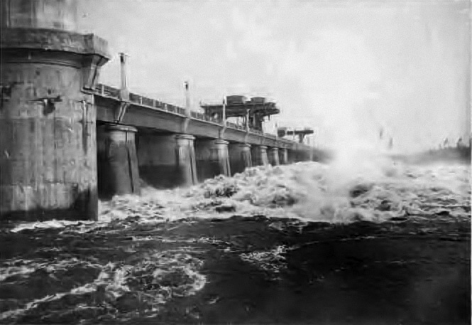 Сброс вод через Иваньовскую плотину 20 ноября 1941 года