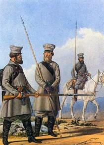 Егерь и казаки тверского ополчения