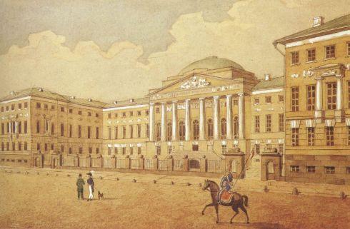 Московский университет. Картинка. 19 век
