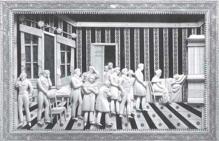 Смерть Александра I в Таганроге. Моржовый клык, дерево