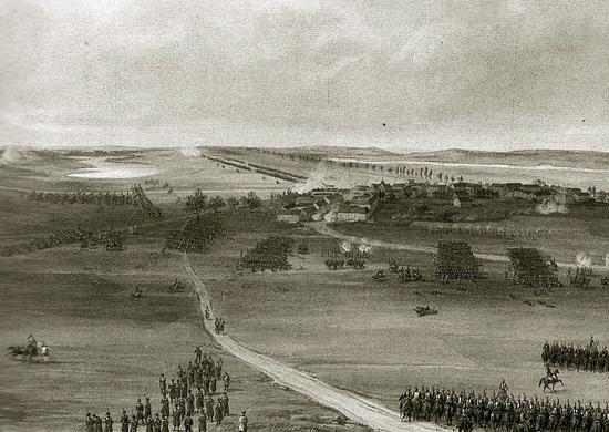 Жан Антуан Симеон Форт. Сражение при Шампобере 29 января 1814 г.